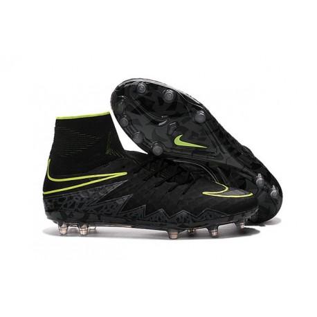 Nike Nouvel Crampons Football Hypervenom Phantom II FG Noir Volt