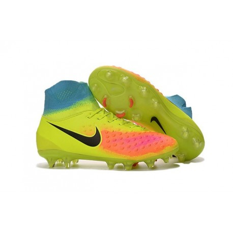 Nike Magista Obra II FG Meilleur Crampon Football Jaune Noir Orange