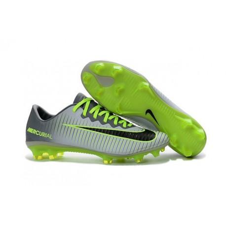 Nike Crampon Football Mercurial Vapor 11 FG ACC Gris Vert Noir