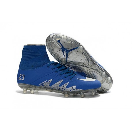 Nike Hypervenom Phantom II Neymar x Air Jordan FG Bleu Argent
