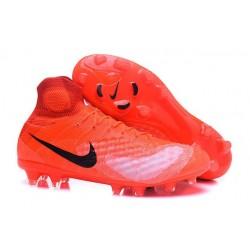 Nike Magista Obra II FG Meilleur Crampon Football Orange Noir