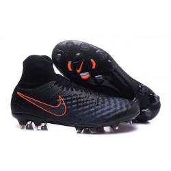 Nike Magista Obra II FG Meilleur Crampon Football Noir Orange