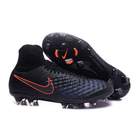 Nike Magista Obra II FG Meilleur Crampon Football Noir Orange