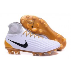 Nike Magista Obra II FG Meilleur Crampon Football Blanc Or Noir