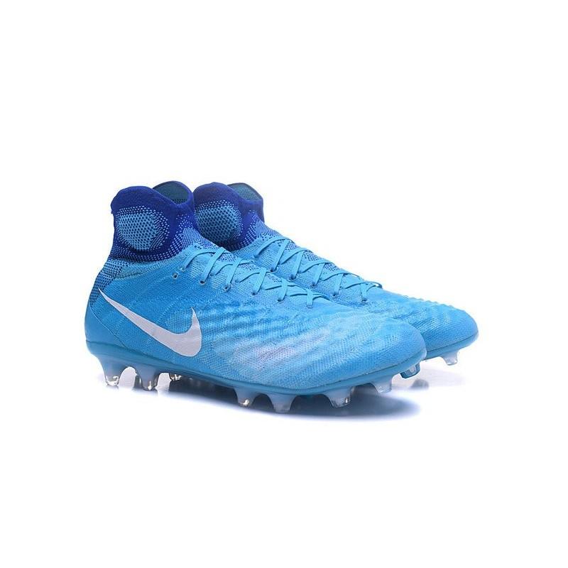 prix compétitif 2bbf3 85fd3 Nike Magista Obra II FG Meilleur Crampon Football Bleu Blanc