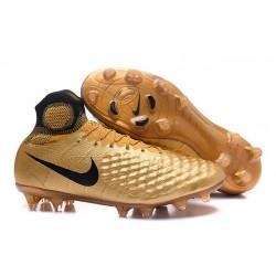 Chaussures de Foot Nouvelles Nike Magista Obra II FG Or Noir