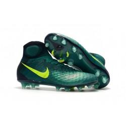 Chaussures de Foot Nouvelles Nike Magista Obra II FG Vert Jaune