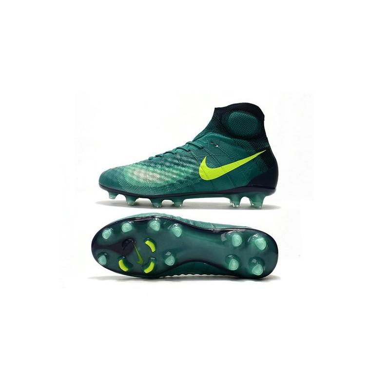 best sneakers 47a2a 657bc Chaussures de Foot Nouvelles Nike Magista Obra II FG Vert Jaune