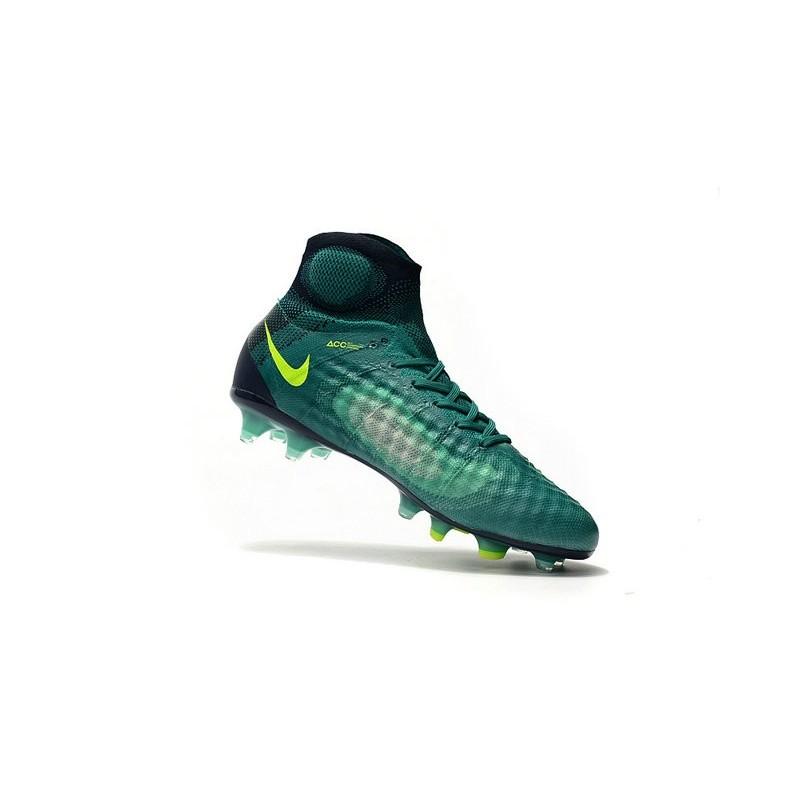 on sale 43098 bc761 Chaussures de Foot Nouvelles Nike Magista Obra II FG Vert Jaune Zoom.  Précédent · Suivant