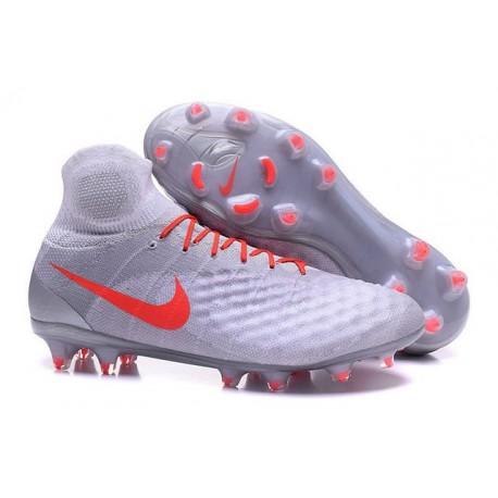 Chaussures de Foot Nouvelles Nike Magista Obra II FG Blanc Orange