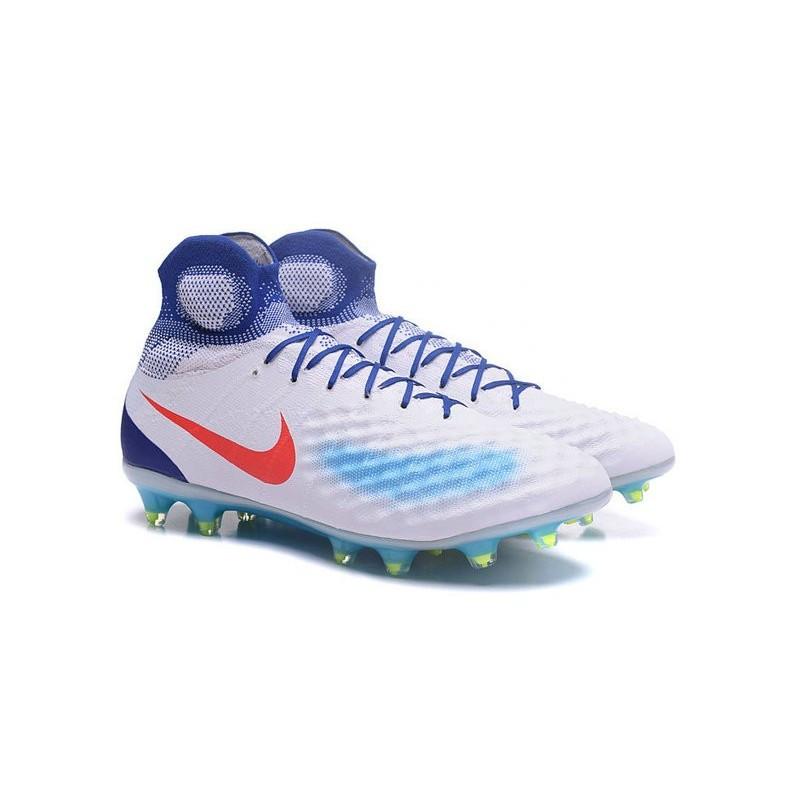 Magista Blanc Nike Rouge Foot Nouvelles Ii Fg Bleu Obra Chaussures De OXnw80Pk