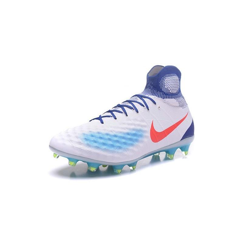 acheter populaire 39ada 4c226 Chaussures de Foot Nouvelles Nike Magista Obra II FG Blanc ...