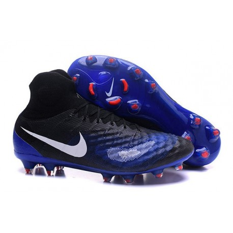 Chaussures de Foot Nouvelles Nike Magista Obra II FG Noir Bleu
