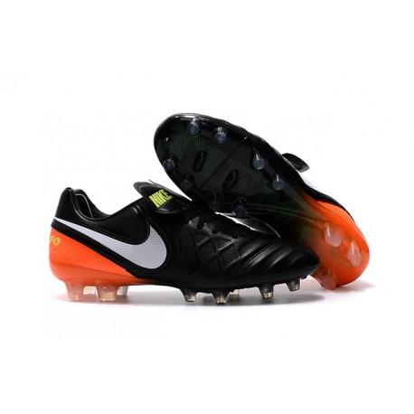 best service 391c3 231de Nike Kangourou Crampons de Foot Tiempo Legend VI FG ACC Noir Orange Blanche