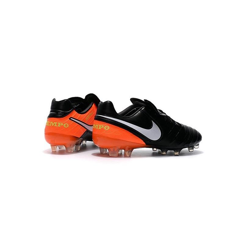 purchase cheap 046b1 697a8 Nike Kangourou Crampons de Foot Tiempo Legend VI FG ACC Noir Orange Blanche  Zoom. Précédent. Suivant