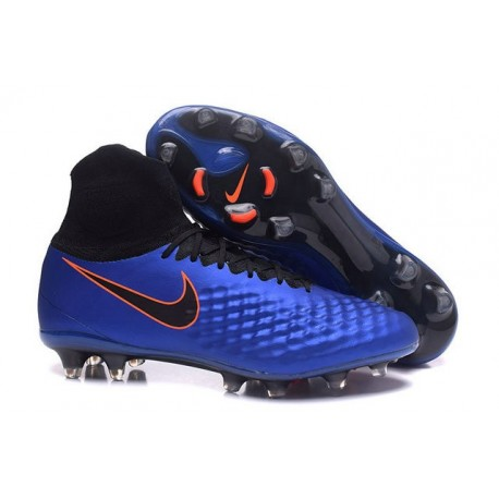 Chaussures de Foot Nouvelles Nike Magista Obra II FG Bleu Noir