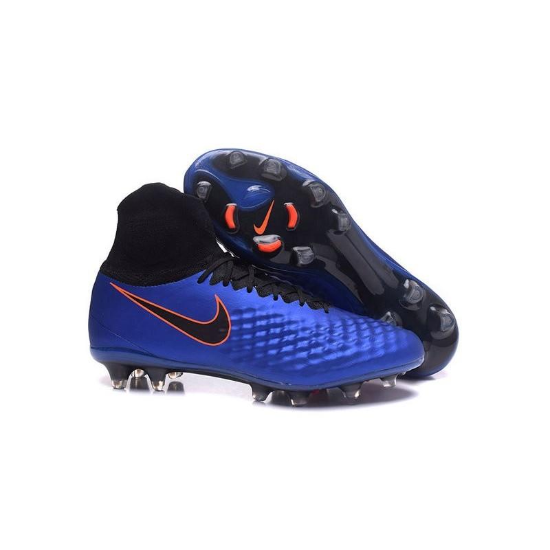 watch a3552 d6832 Chaussures de Foot Nouvelles Nike Magista Obra II FG Bleu Noir