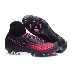 Meilleur Nike Magista Obra 2 FG Crampon Football Homme Noir Rose