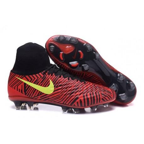 Meilleur Nike Magista Obra 2 FG Crampon Football Homme Rouge Noir Volt