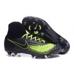 Meilleur Nike Magista Obra 2 FG Crampon Football Homme Noir Jaune