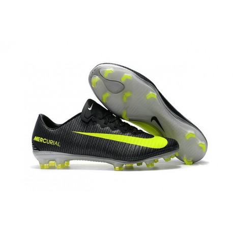 Nike Crampon Football Mercurial Vapor 11 CR7 FG ACC Noir Jaune