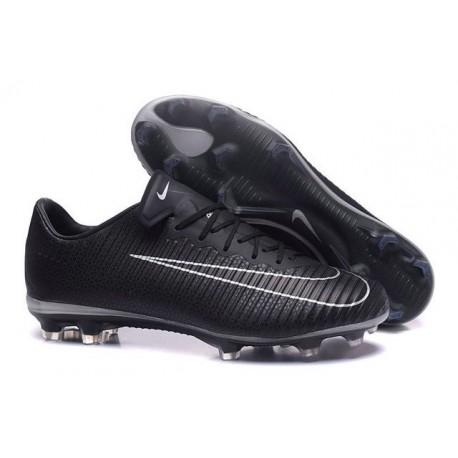 Nike Mercurial Vapor XI FG Nouvelles Chaussures de Foot Noir Blanc