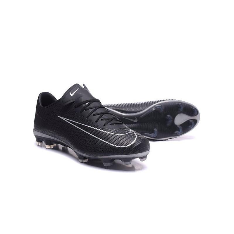2e115b29fa6ab Nike Mercurial Vapor XI FG Nouvelles Chaussures de Foot Noir Blanc Zoom.  Précédent · Suivant