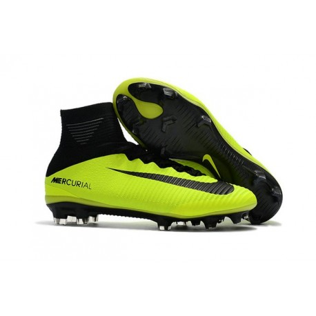 Nike Mercurial Superfly 5 FG ACC Nouvelles Chaussure de Foot Volt Noir
