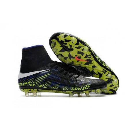 Chaussure de Foot Nike Hypervenom Phantom 2 FG Noir Bleu Vert
