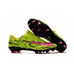Nike Mercurial Vapor XI FG Nouvelles Chaussures de Foot Jaune Rose