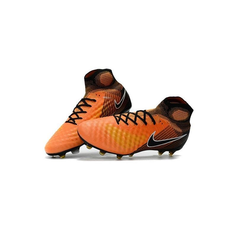 best service ccbdf 54adc Nike Magista Obra II FG Nouveaux Chaussure de Foot Orange Noir Zoom.  Précédent · Suivant
