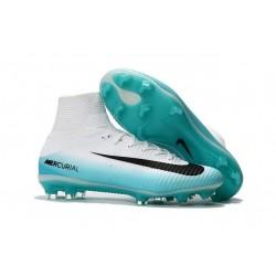 Nike Mercurial Superfly 5 FG ACC Nouvelles Chaussure de Foot Blanc Bleu Noir