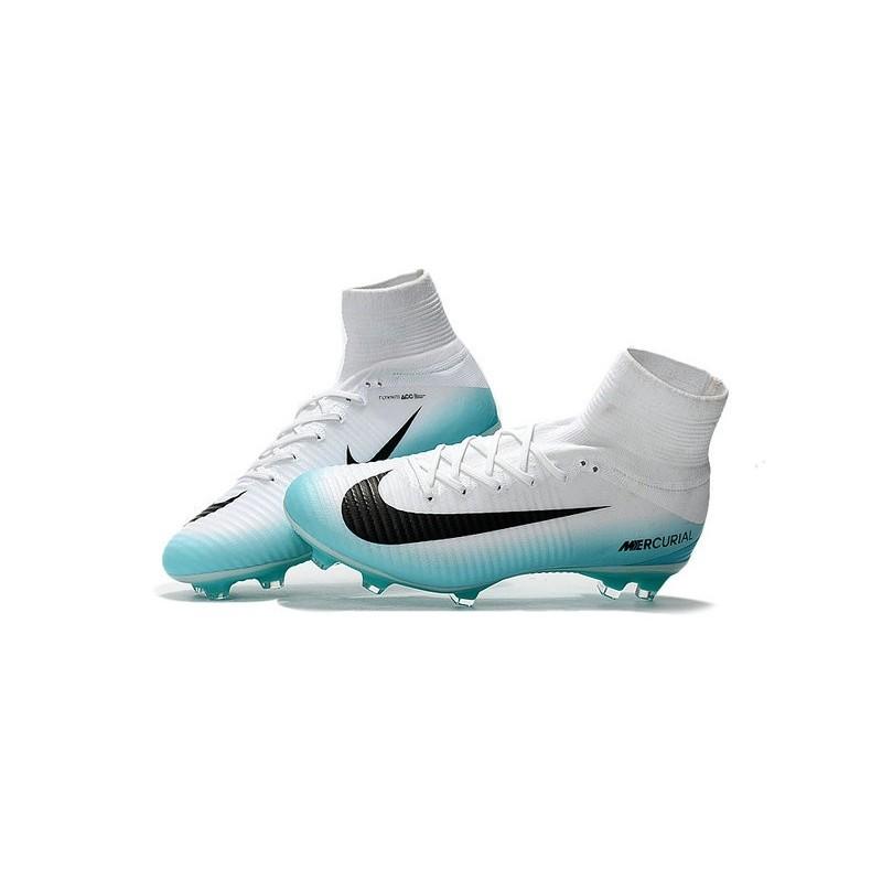 outlet store abab7 dfd60 Nike Mercurial Superfly 5 FG ACC Nouvelles Chaussure de Foot Blanc Bleu Noir  Zoom. Précédent · Suivant