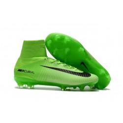 Nike Mercurial Superfly 5 FG ACC Nouvelles Chaussure de Foot Vert Noir
