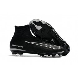 Nike Mercurial Superfly 5 FG ACC Nouvelles Chaussure de Foot Noir Gris