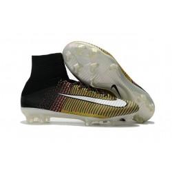 Nike Mercurial Superfly 5 FG ACC Nouvelles Chaussure de Foot Jaune Blanc