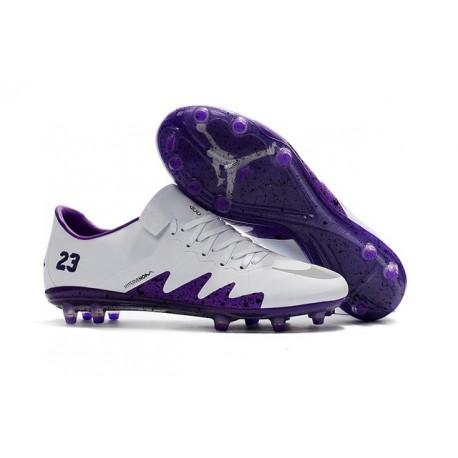 Nike Hypervenom Phinish FG ACC Crampons Football Neymar Jordan NJR Blanc Violet