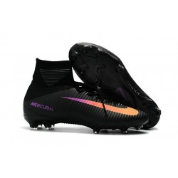 Nike Mercurial Superfly 5 FG ACC Nouvelles Chaussure de Foot Noir Orange