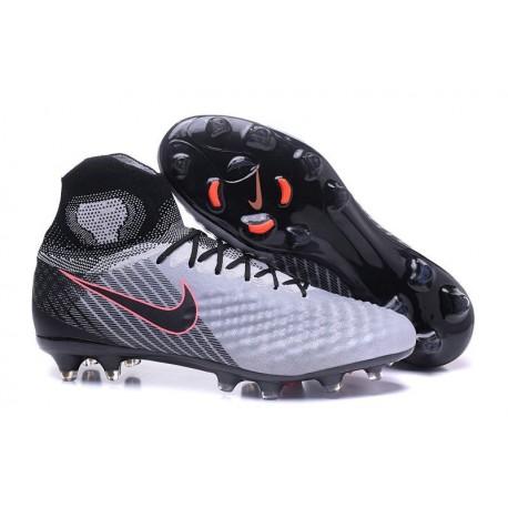 Nike Magista Obra II FG Nouveaux Chaussure de Foot Gris Noir