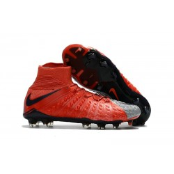 Chaussures Nouvel Nike Hypervenom Phantom III DF FG Rouge Gris