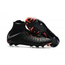 Chaussures Nouvel Nike Hypervenom Phantom III DF FG Noir Argent