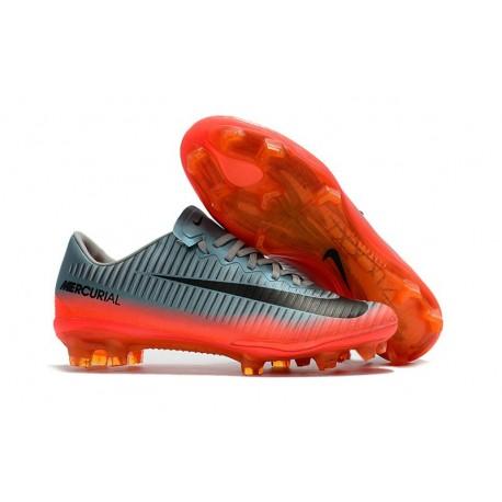 Nike Mercurial Vapor XI FG Nouvelles Chaussures de Foot Gris Hematite