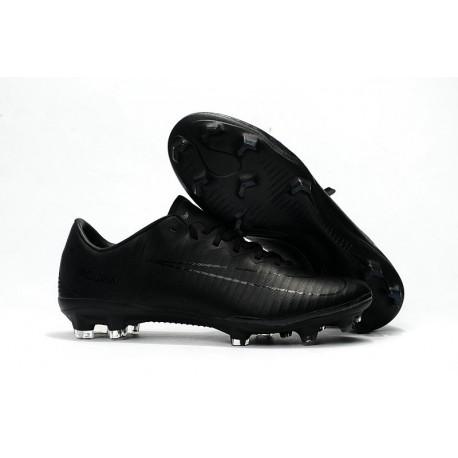 Nike Mercurial Vapor XI FG Nouvelles Chaussures de Foot Tout Noir