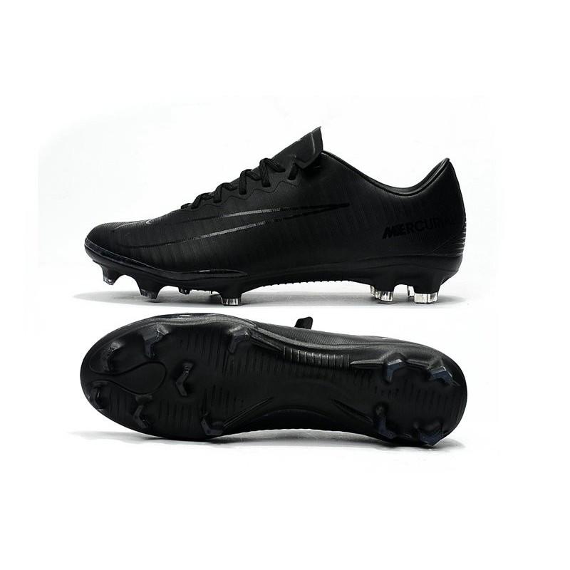 5e7dcc5e190538 Nike Mercurial Vapor XI FG Nouvelles Chaussures de Foot Tout Noir Zoom.  Précédent · Suivant