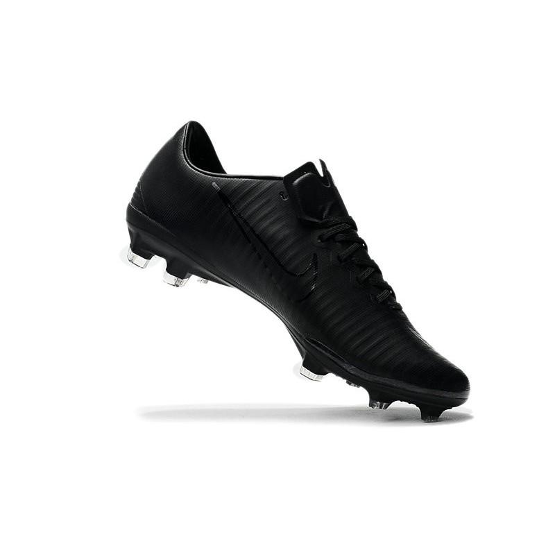 best service 69e2a 26791 Nike Mercurial Vapor XI FG Nouvelles Chaussures de Foot Tout Noir Zoom.  Précédent · Suivant