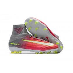 Nike Crampon Football 2017 Mercurial Superfly V FG Rose Gris Blanc
