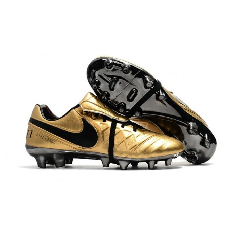 Chaussures de Football 2017 Nike Tiempo Totti X Roma Or