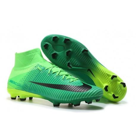 Chaussure de Foot Neuf Nike Mercurial Superfly 5 FG Vert Noir