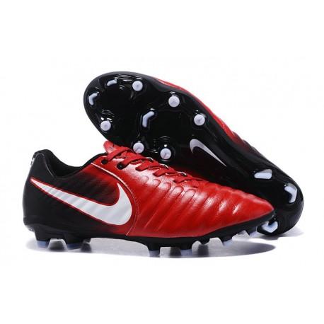 Chaussures de Football 2017 Nike Tiempo Legend VII FG ACC Rouge Blanc