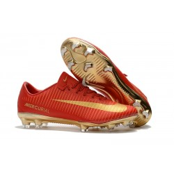 Nike Mercurial Vapor 11 FG 2017 Crampon Homme - CR7 Rouge Or